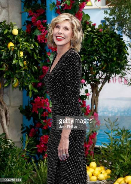 Christine Baranski attends the UK Premiere of 'Mamma Mia Here We Go Again' at Eventim Apollo on July 16 2018 in London England