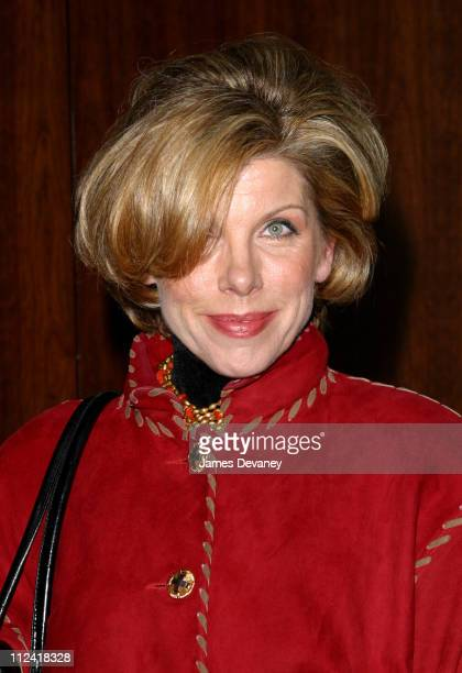 Christine Baranski during Anna Wintour and Harvey Weinstein Cohost Screening of 'Chicago' at Tribeca Grand Hotel in New York City New York United...
