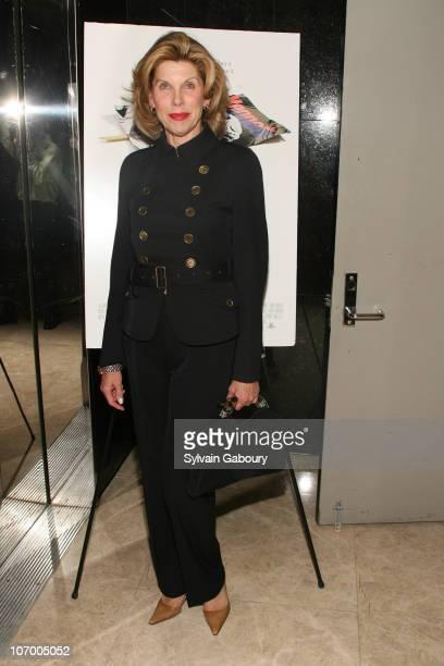 Christine Baranski during Harvey Weinstein Hosts a Private Screening of Bobby for Senators Obama and Schumer Inside Arrivals at Disney Screeening...