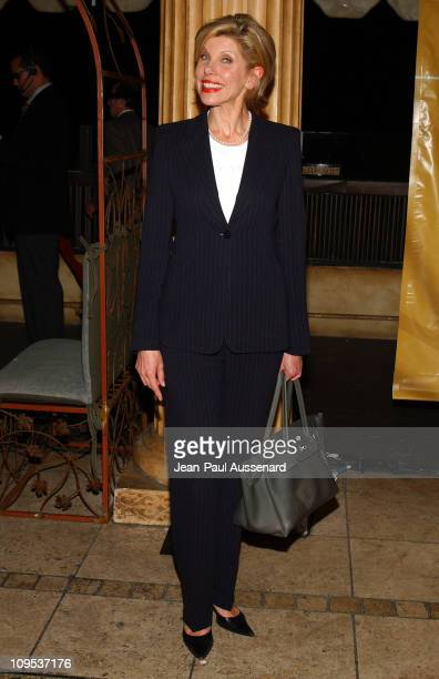 Christine Baranski during NBC AllStar Party Arrivals at Hollywood and Highland Entertainment Complex in Hollywood California United States