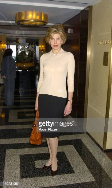 Christine Baranski during The 18th Annual CitymealsonWheels 'Power Lunch For Women' Arrivals at The Rainbow Room in New York City New York United...