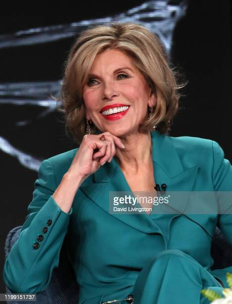 Christine Baranski of The Good Fight speaks during the CBS All Access segment of the 2020 Winter TCA Tour at The Langham Huntington Pasadena on...