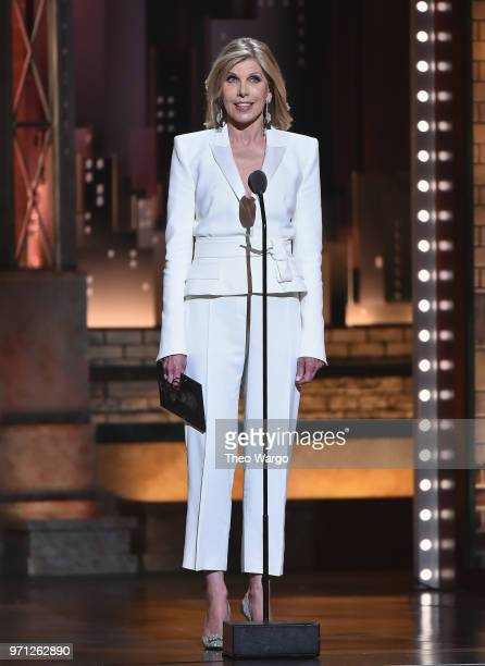 Christine Baranski presents an award onstage during the 72nd Annual Tony Awards at Radio City Music Hall on June 10 2018 in New York City