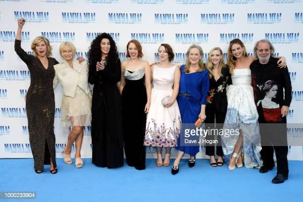 Christine Baranski producer Judy Craymer Cher Jessica Keenan Wynn Alexa Davies Meryl Streep Amanda Seyfried Lily James and executive producer Benny...