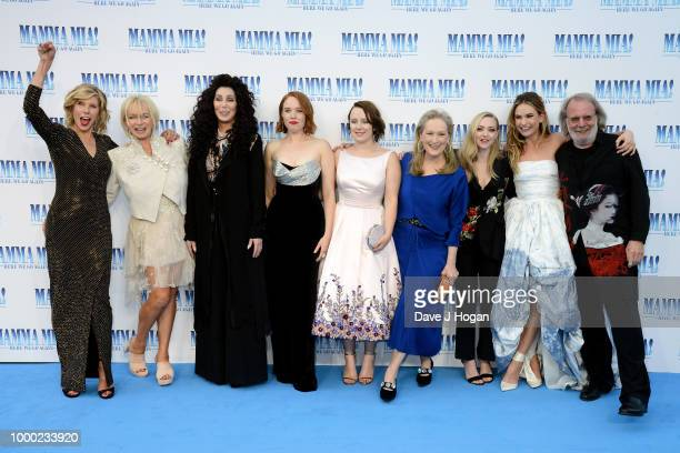 Christine Baranski producer Judy Craymer Cher Jessica Keenan Wynn Alexa Davies Meryl Streep Amanda Seyfried Lily James and executive producer Benny...