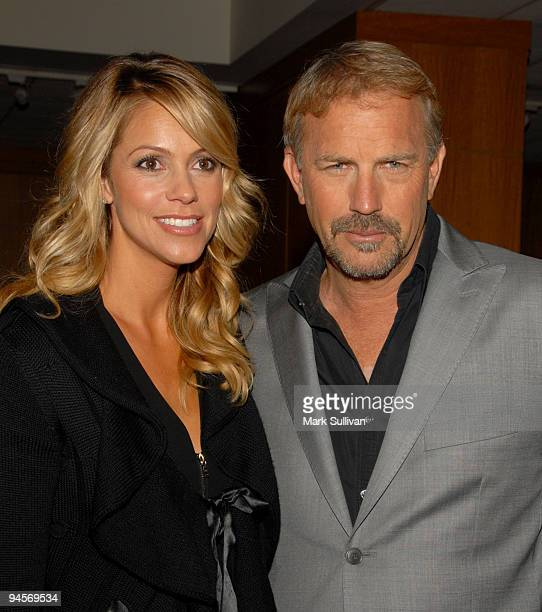 Christine Baumgartner and actor Kevin Costner attend the 20th Anniversary Screening of Field of Dreams at Academy of Motion Picture Arts Sciences on...