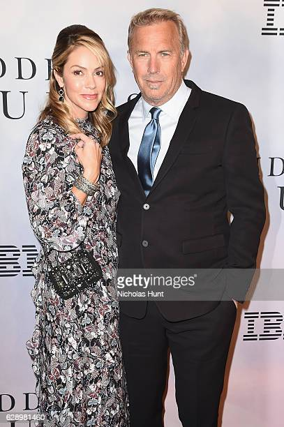 Christine Baumgartner and Kevin Costner attend the 'Hidden Figures' New York Special Screening on December 10 2016 in New York City