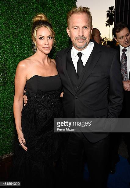 Christine Baumgartner and Kevin Costner attends the 20th annual Critics' Choice Movie Awards at the Hollywood Palladium on January 15 2015 in Los...