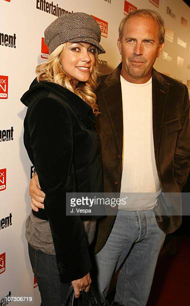 Christine Baumgartner and Kevin Costner during 31st Annual Toronto International Film Festival - Entertainment Weekly Party at Flow in Toronto,...