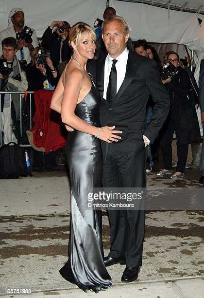 Christine Baumgartner and Kevin Costner during Chanel Costume Institute Gala at The Metropolitan Museum of Art Arrivals at The Metropolitan Museum of...
