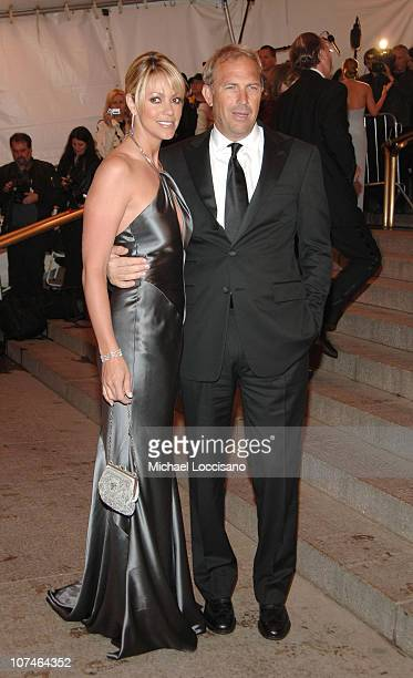 Christine Baumgartner and Kevin Costner during Chanel Costume Institute Gala Opening at the Metropolitan Museum of Art Arrivals at Metropolitan...