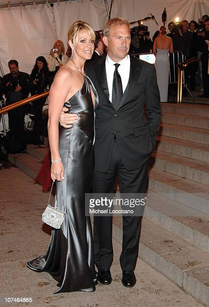 Christine Baumgartner and Kevin Costner during Chanel Costume Institute Gala Opening at the Metropolitan Museum of Art Arrivals at Metropolitan...