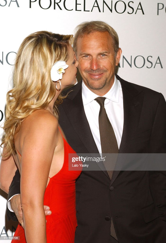 Kevin Costner and Christine Baumgartner at Porcelanosa Store Launch