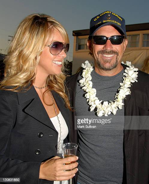 Christine Baumgartner and Kevin Costner during The Living Room's 3rd Annual Evening Extravaganza Benefiting Surfrider Foundation at The Living Room...