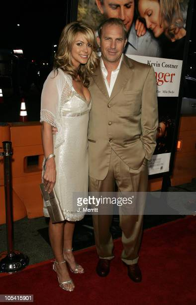 Christine Baumgartner and Kevin Costner during 'The Upside of Anger' Los Angeles Premiere Arrivals at The Mann's National Theatre in Westwood...
