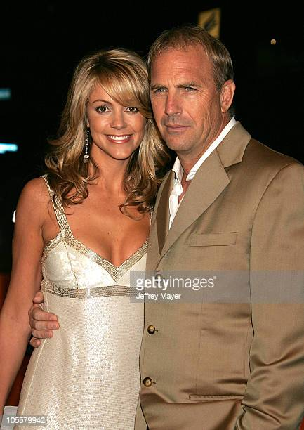 Christine Baumgartner and Kevin Costner during 'The Upside of Anger' Los Angeles Premiere Arrivals at The National in Westwood California United...