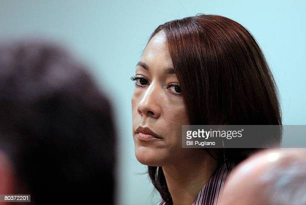 Christine Beatty former Chief of Staff for Detroit Mayor Kwame Kilpatrick stands in the 36th District Court for her arraignment on multiple felony...