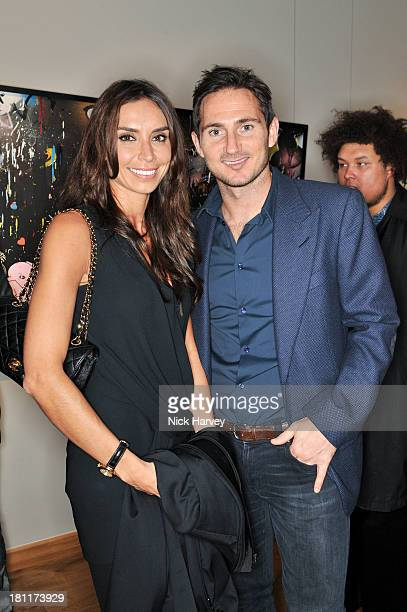Christine Bleakley and Frank Lampard attend the private view of Dan Baldwin's 'Fragile' solo exhibition at Gallery 8 on September 19 2013 in London...