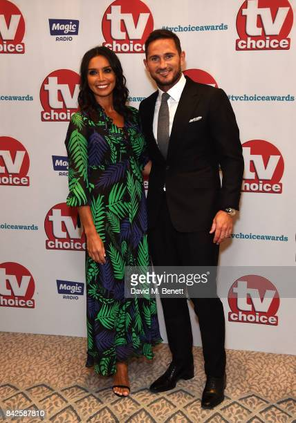 Christine Bleakley and Frank Lampard attend the TV Choice Awards at The Dorchester on September 4 2017 in London England