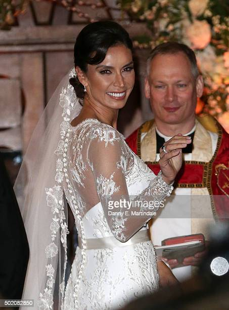 Christine Bleakley attends her wedding to Frank Lampard on December 20 2015 in London England