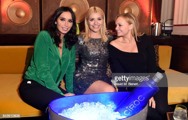 Christine Bleakley, Holly Willoughby and Emma Bunton attend The Warner Music & Ciroc Brit Awards After Party on February 22, 2017 in London, England.