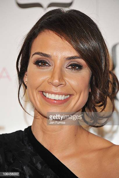 Christine Bleakley poses in the press room at Cosmopolitan's Ultimate Women Of The Year at Banqueting House on November 2 2010 in London England