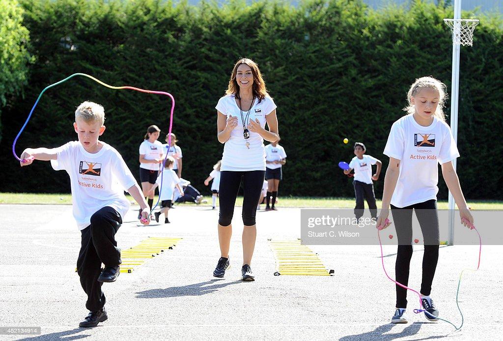Sainsbury's Anniversary Games - Christine Bleakley School Visit : News Photo