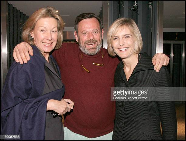 "Christine Borgoltz, Louis Benech and Melita Toscan Du Plantier at Premiere Party For ""La Traversee Du Desir"" By Arielle Dombasle ."
