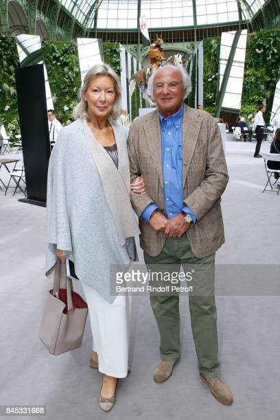 Christine Borgoltz with husband Serge Halff attend the Biennale des Antiquaires 2017 PreOpening at Grand Palais on September 10 2017 in Paris France