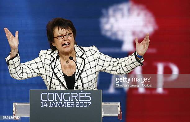 Christine Boutin at the UMP Presidential Party congress to elect a candidate for the forthcoming French presidential elections