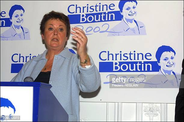 Christine Boutin Enters Presidential Race For The 2002 Election On September 25Th France