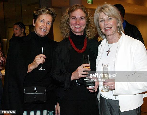 Christine Breitfuss Annita KeatingVan Iersel and Cheryl Anderson at the Elizabeth Arden fragrance launch at the Art Gallery of NSW 26 August 2004 SHD...