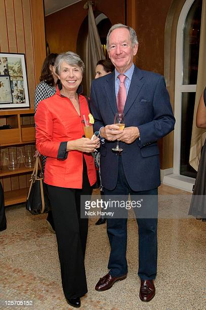 Christine Buerk and Michael Buerk attends the 20th Anniversary party of the Halkin Hotel at Halkin Hotel on September 20 2011 in London England