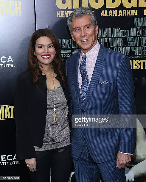 Christine Buffer and Michael Buffer attend the Grudge Match screening benefiting the Tribeca Film Insititute at Ziegfeld Theater on December 16 2013...