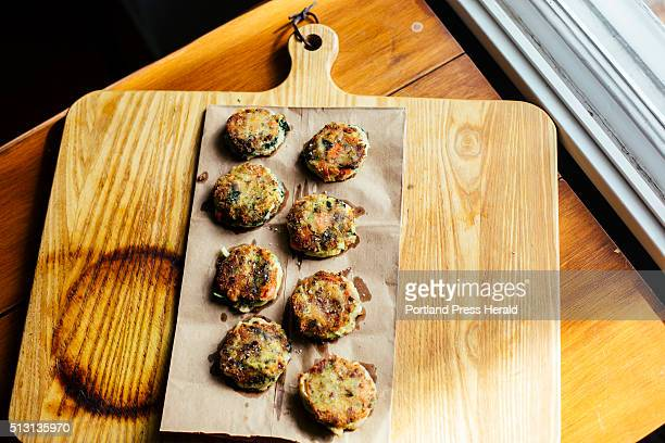 Christine Burns Rudalevige makes bubble and squeak from leftovers using the app Love Food Hate Waste in Brunswick ME on Tuesday Feb 23 2016