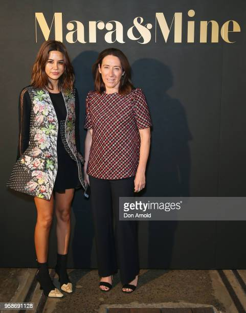 Christine Centenera and Edwina McCann arrive ahead of the Mara Mine at MercedesBenz Fashion Week Resort 19 Collections at Carriageworks on May 15...