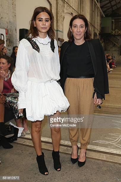 Christine Centenera and Edwina McCann attend the Bec Bridge show at MercedesBenz Fashion Week Resort 17 Collections at Carriageworks on May 17 2016...