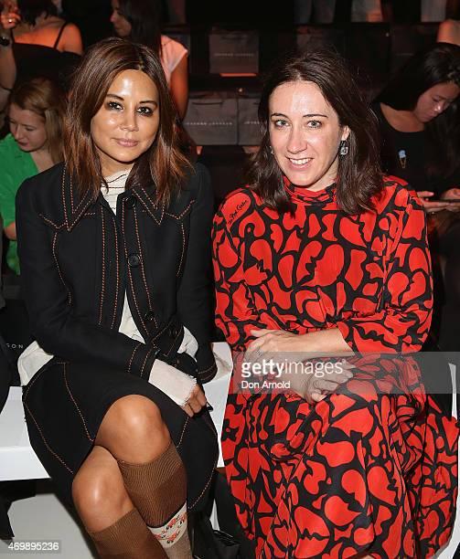 Christine Centenera and Edwina McCann sit front row at the Johanna Johnson Presented By Capitol Grand show at MercedesBenz Fashion Week Australia...