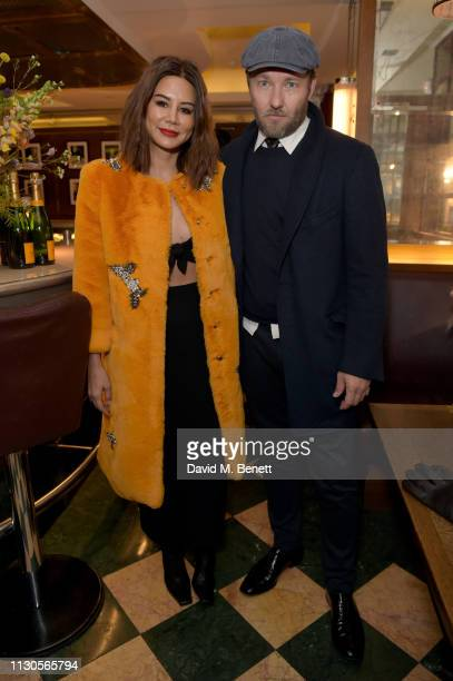 Christine Centenera and Joel Edgerton attend the official Erdem London Fashion Week dinner at J Sheekey Atlantic Bar on February 18 2019 in London...