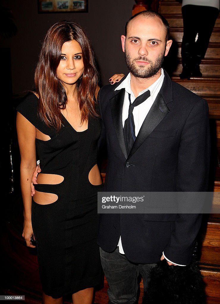 Christine Centenera (L) and Josh Goot arrive for the Chandon Supper Club after party at The ArtHouse on May 20, 2010 in Sydney, Australia.