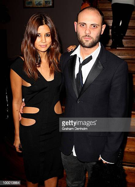 Christine Centenera and Josh Goot arrive for the Chandon Supper Club after party at The ArtHouse on May 20 2010 in Sydney Australia
