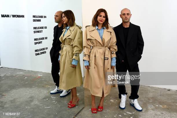 Christine Centenera and Josh Goot attend the WARDROBENYC launch of Release 04 DENIM Levi's® Collaboration on July 17 2019 in New York City