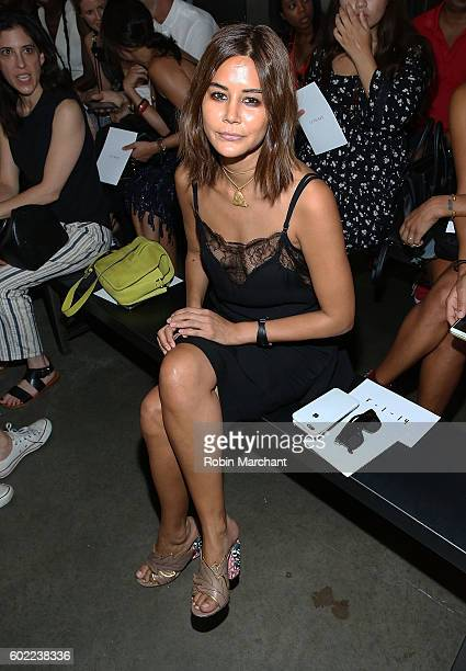 Christine Centenera attends Dion Lee Front Row September 2016 during New York Fashion Week at Pier 59 Studios on September 10 2016 in New York City