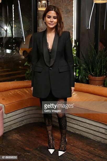 Christine Centenera attends MATCHESFASHIONCOM x Roksanda Dinner at Le Turtle on October 27 2016 in New York City