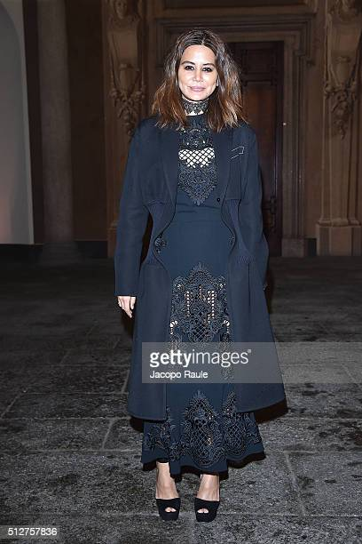 Christine Centenera attends Vogue Cocktail Party honoring photographer Mario Testino on February 27 2016 in Milan Italy