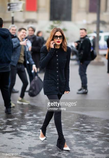 Christine Centenera is seen outside Chanel during Paris Fashion Week Womenswear Fall/Winter 2019/2020 on March 05 2019 in Paris France