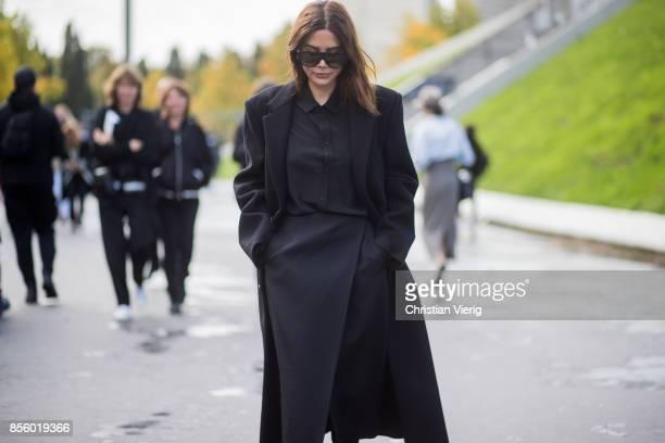 Christine Centenera is seen outside Haider Ackermann during Paris Fashion Week Spring/Summer 2018 on September 30 2017 in Paris France