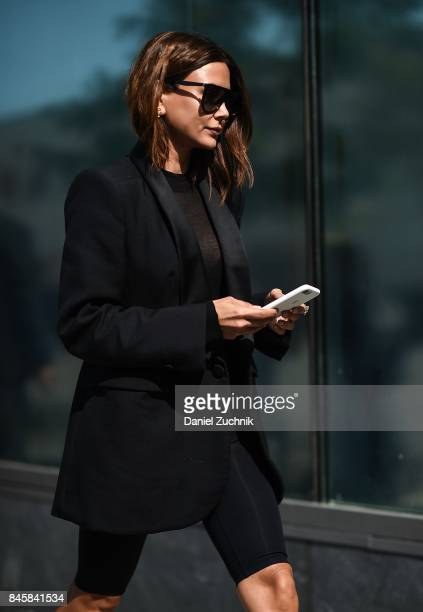 Christine Centenera is seen outside the 31 Phillip Lim show show during New York Fashion Week Women's S/S 2018 on September 11 2017 in New York City