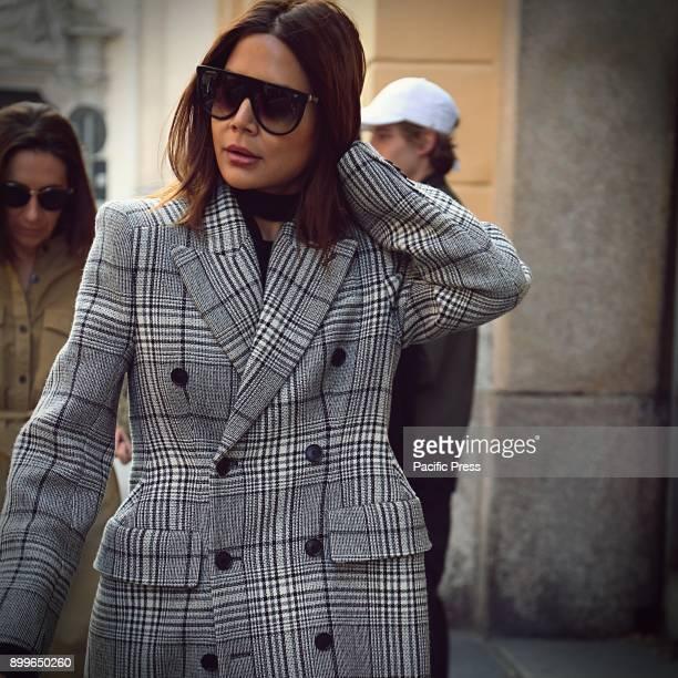 Christine Centenera on the street during the Milan Fashion Week