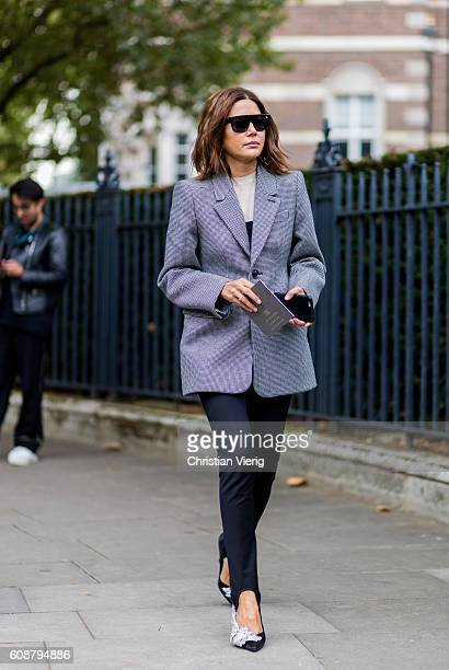 Christine Centenera outside Christopher Kane during London Fashion Week Spring/Summer collections 2017 on September 19 2016 in London United Kingdom
